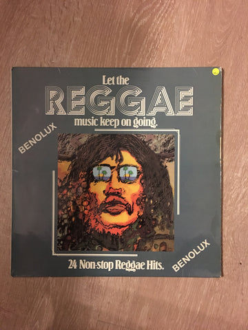 Benolux- Let The Reggae Music Keep On Going -  24 Non Stop Reggae Hits - Vinyl LP Record - Opened  - Very-Good+ Quality (VG+)