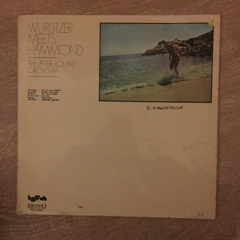 The Peter Loland Orchestra ‎– Wurlitzer Meets Hammond - Vinyl LP Record - Opened  - Very-Good- Quality (VG-)