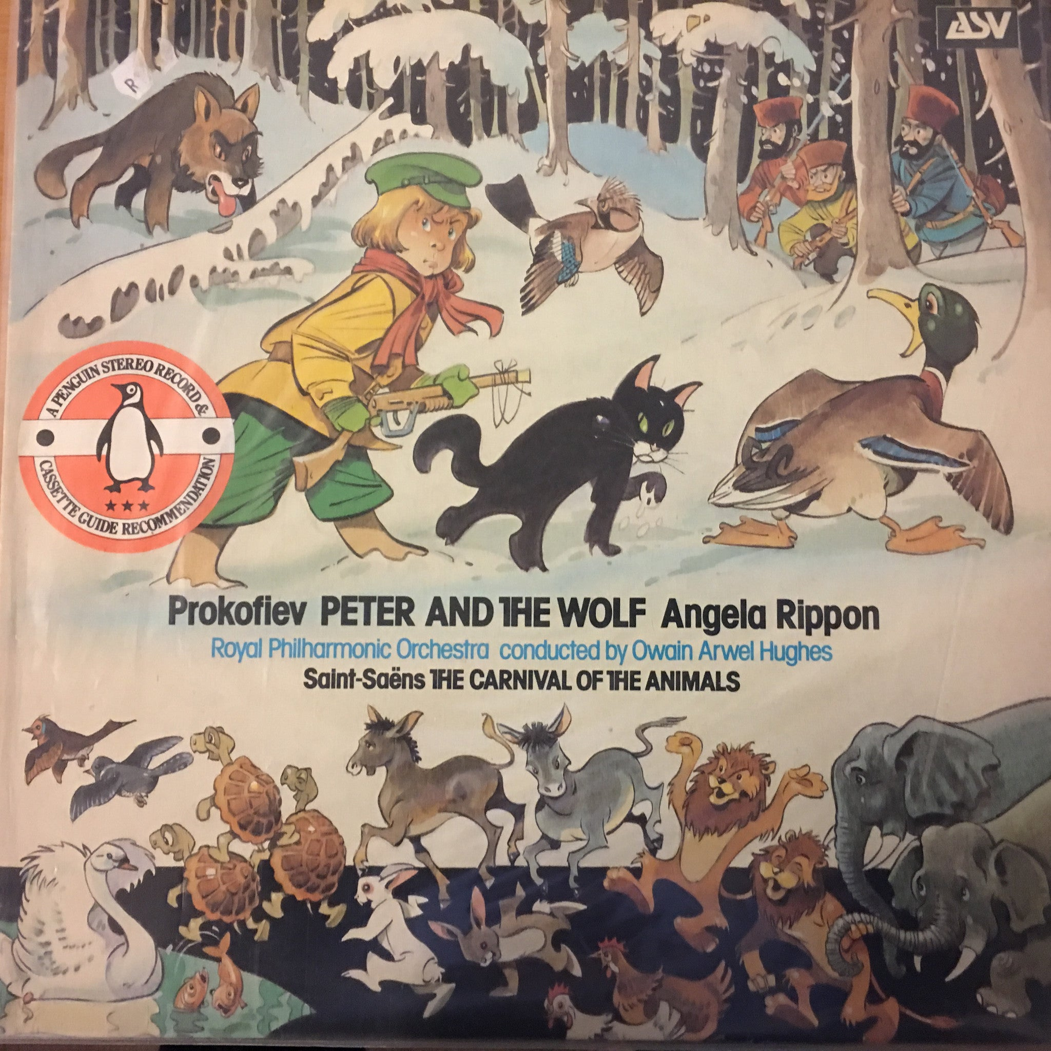 The Royal Philharmonic Orchestra & Owain Arwel Hughes ‎– Peter And The Wolf / The Carnival Of The Animals - Open Vinyl - Near Mint Condition