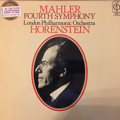 Mahler, London Philharmonic Orchestra, Horenstein ‎– Fourth Symphony -  Open Vinyl LP - Very Good+  Condition - C-Plan Audio