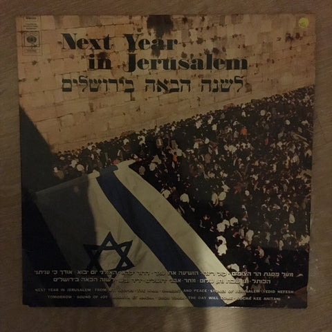 Various ‎– Next Year In Jerusalem - Vinyl LP Record - Opened  - Very-Good Quality (VG)