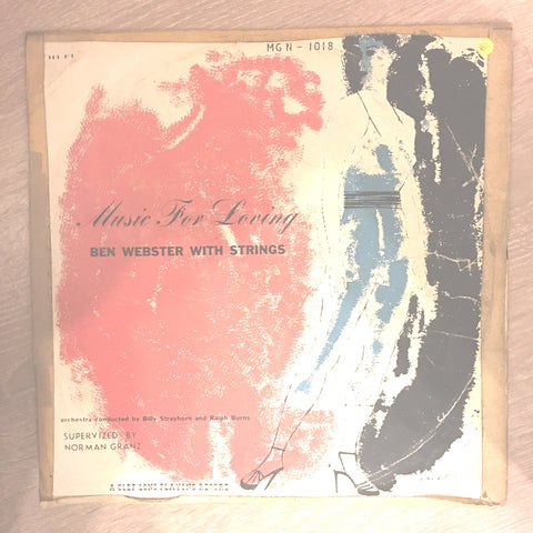 Ben Webster ‎– Music For Loving - Vinyl LP Record - Opened  - Very-Good- Quality (VG-)
