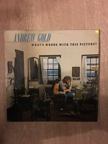 Andrew Gold - What's Wrong With This Picture - Vinyl LP Record - Opened  - Very-Good+ Quality (VG+)