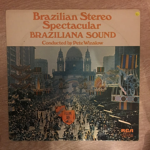 The Braziliana Sound - Pete Winslow ‎– Back To Brazil - Vinyl LP Record - Opened - Very-Good Quality (VG) - Vinyl LP Record - Opened  - Very-Good Quality (VG)