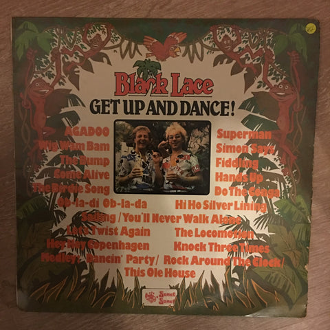 Black Lace ‎– Get Up And Dance! -  Vinyl LP Record - Opened  - Very-Good+ Quality (VG+)
