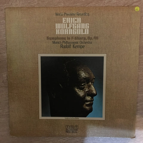 Erich Wolfgang Korngold - Munich Philharmonic Orchestra, Rudolf Kempe ‎– Symphony In F-Sharp, Op. 40 - Vinyl LP Record - Opened  - Very-Good Quality (VG) - C-Plan Audio