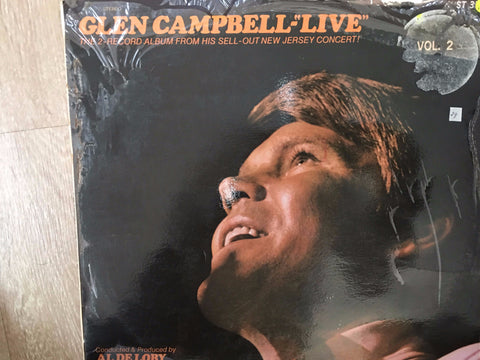 Glen Campbell ‎– Live  - Sell-out New Jersey Concert - Double Vinyl LP - Opened  - Very-Good+ Quality (VG+) - C-Plan Audio