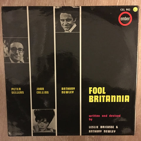 Peter Sellers, Joan Collins, Anthony Newley ‎– Fool Britannia - Vinyl LP Record - Opened  - Very-Good Quality (VG) - C-Plan Audio