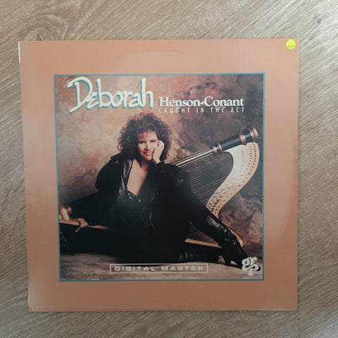 Deborah Henson-Conant ‎– Caught In The Act - Vinyl LP Record  - Opened  - Very-Good+ Quality (VG+)
