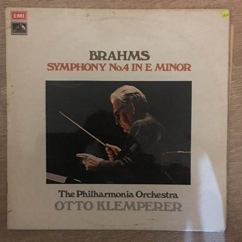 Brahms, Philharmonia Orchestra, Otto Klemperer ‎– Symphony No. 4 In E Minor, Op. 98 - Vinyl LP Record - Opened  - Very-Good+ Quality (VG+) - C-Plan Audio