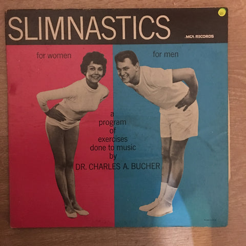 Dr. Charles A. Bucher ‎– Slimnastics - Vinyl LP Record - Opened  - Very-Good Quality (VG)
