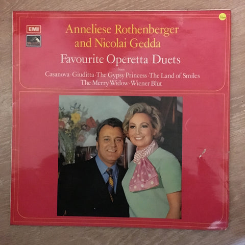 Nicolai Gedda, Anneliese Rothenberger, Symphonie-Orchester Graunke, Willy Mattes, Robert Stolz ‎– Favourite Operetta Duets - Vinyl LP - Opened  - Very-Good+ Quality (VG+) - C-Plan Audio