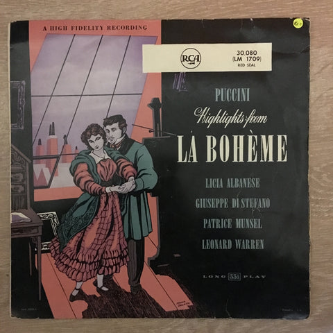 Puccini ‎– Highlights From La Bohème - Vinyl LP- Opened  - Very-Good+ Quality (VG+)