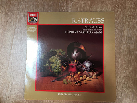 Richard Strauss - Berliner Philharmoniker, Herbert von Karajan ‎– Ein Heldenleben  - Vinyl LP - Opened  - Very-Good+ Quality (VG+)
