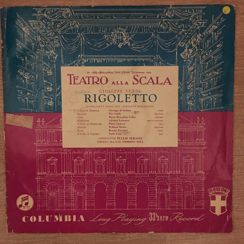 Verdi - Teatro Alla Scala - Rigoletto  - Vinyl LP - Opened  - Good Quality (G)