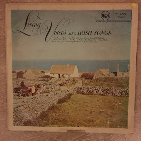 Living Voices SIng Irish Songs - Vinyl LP Record - Opened  - Good+ Quality (G+)