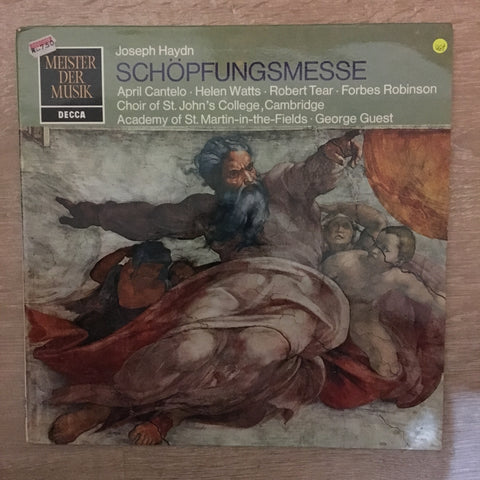 Joseph Haydn ‎– Schöpfungsmesse ‎- Vinyl LP Record - Opened  - Very-Good+ Quality (VG+)