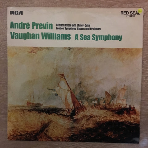 Ralph Vaughan Williams, André Previn, London Symphony Orchestra And Chorus ‎– A Sea Symphony ‎- Vinyl LP Record - Opened  - Very-Good+ Quality (VG+) - C-Plan Audio