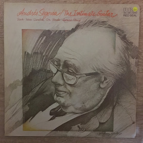 Andrés Segovia ‎– The Intimate Guitar ‎- Vinyl LP Record - Opened  - Very-Good+ Quality (VG+)