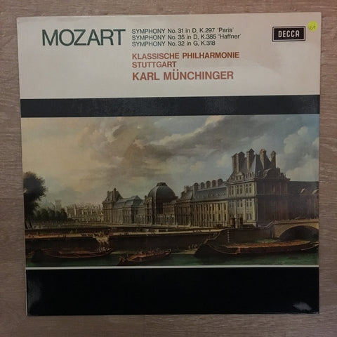Mozart, Klassische Philharmonie Stuttgart, Karl Münchinger ‎– Symphony No. 31 In D, K.297 'Paris' / Symphony No. 35 In D, K.385 'Haffner / Symphony No. 32 In G, K.318 ‎- Vinyl LP Record - Opened  - Very-Good+ Quality (VG+) - C-Plan Audio