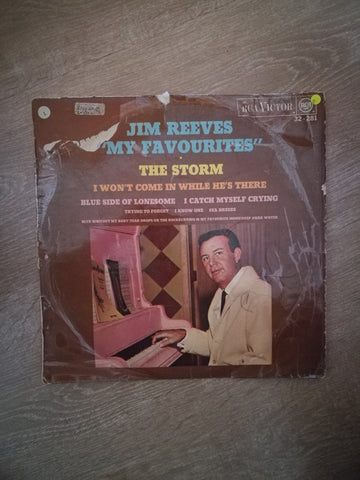 Jim Reeves - My Favourites - The Storm - Vinyl LP Record - Opened  - Good Quality (G) - C-Plan Audio