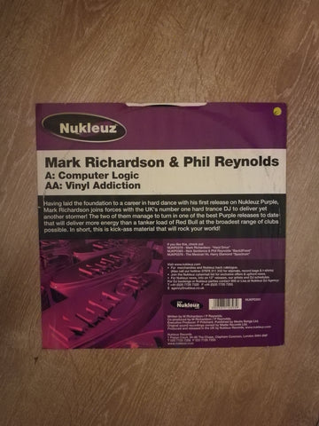 Mark Richardson & Phil Reynolds ‎– Computer Logic - Vinyl LP Record - Opened  - Very-Good Quality (VG) - C-Plan Audio
