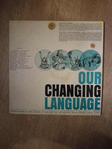 Our Changing Language - Gott, McDavid J.R - Vinyl LP Record - Opened  - Very-Good+ Quality (VG+) - C-Plan Audio