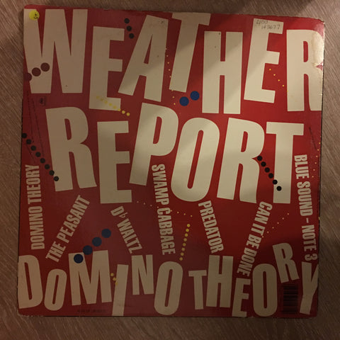 Weather Report ‎– Domino Theory - Vinyl LP - Sealed