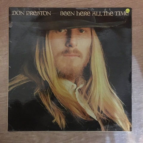 Don Preston ‎– Been Here All The Time - Vinyl LP Record - Opened  - Very-Good+ Quality (VG+) - C-Plan Audio