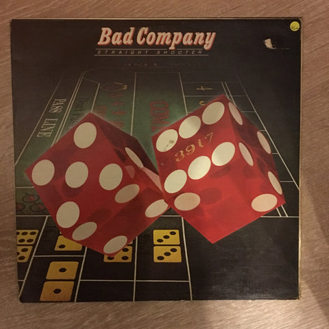 Bad Company - Straight Shooter  - Vinyl LP Record - Opened  - Very-Good+ Quality (VG+)