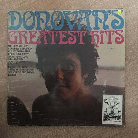 Donovan's Greatest Hits - Vinyl LP Record - Opened  - Very-Good- Quality (VG-) - C-Plan Audio