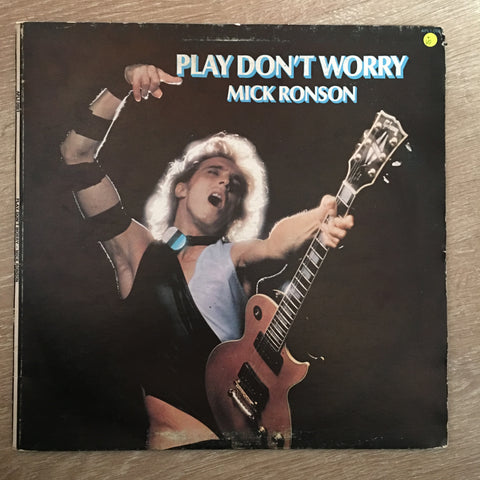 Mick Ronson ‎– Play Don't Worry - Vinyl LP Record - Opened  - Very-Good Quality (VG)