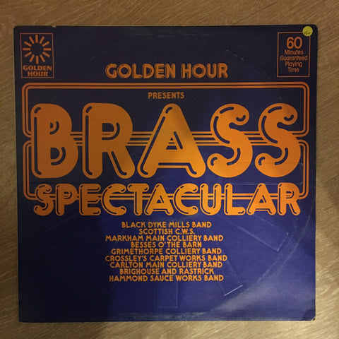 Various ‎– Golden Hour Presents Brass Spectacular - Vinyl LP Record - Opened  - Very-Good+ Quality (VG+)