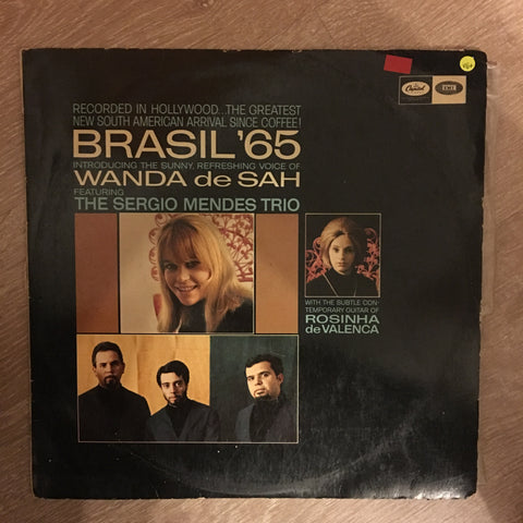 The Sérgio Mendes Trio Introducing Wanda De Sah With Rosinha De Valenca ‎– Brasil '65 - Vinyl LP Record - Opened  - Very-Good+ Quality (VG+)