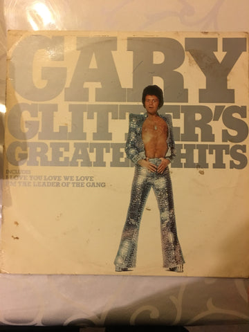 Gary Glitter - Greatest Hits - Vinyl LP - Opened  - Very-Good Quality (VG) - C-Plan Audio