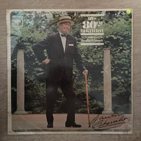 Maurice Chevalier ‎– His 80th Birthday - Vinyl LP Record - Opened  - Very-Good Quality (VG) - C-Plan Audio