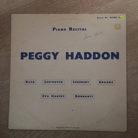 Peggy Haddon - Piano Recital - Vinyl LP Record - Opened  - Good+ Quality (G+) - C-Plan Audio