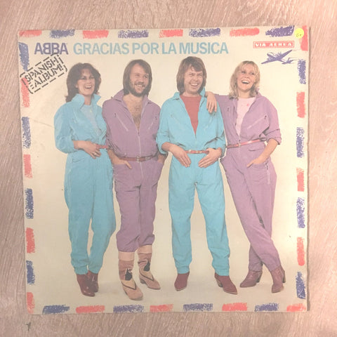 ABBA (Spanish Album) ‎– Gracias Por La Musica - Vinyl LP Record - Opened  - Good+ Quality (G+)