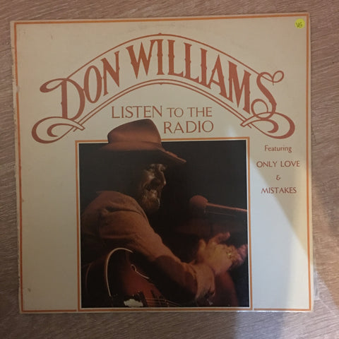 Don Williams - Listen To The Radio - Vinyl LP Record - Opened  - Very-Good Quality (VG) - C-Plan Audio