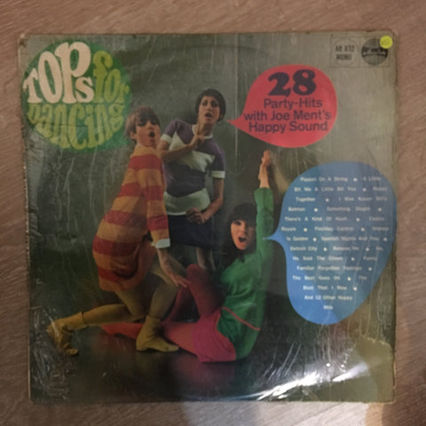 Jo Ment & His Party-Singers - Tops For Dancing (28 Party-Hits)  - Vinyl LP Record - Opened  - Very-Good Quality (VG)