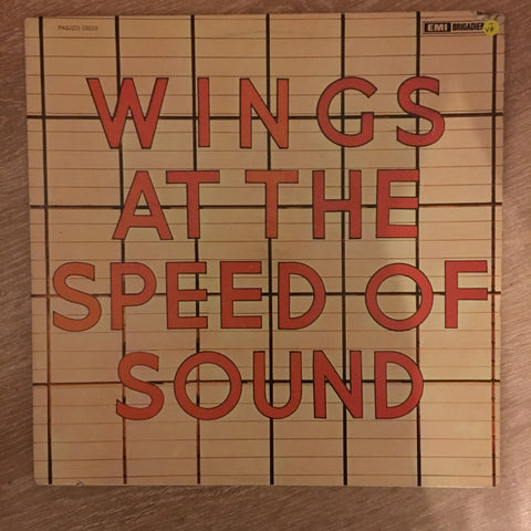 Wings - At the Speed of Sound  - Vinyl LP Record - Opened  - Very-Good- Quality (VG-)
