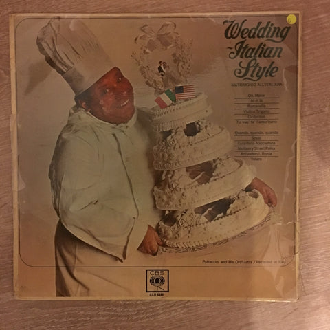 Pattaccini And His Orchestra ‎– Wedding Italian Style - Vinyl LP Record - Opened  - Good Quality (G)
