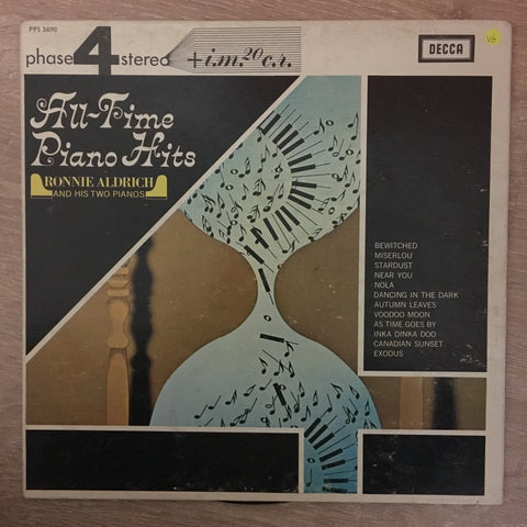 Ronnie Aldrich And His Two Pianos - All-Time Piano Hits  - Vinyl LP Record - Opened  - Very-Good Quality (VG)