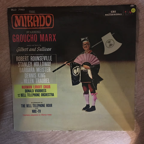 Groucho Marx - The Mikado Starring Groucho Marx ‎- Vinyl LP Record - Opened  - Very-Good+ Quality (VG+) - C-Plan Audio