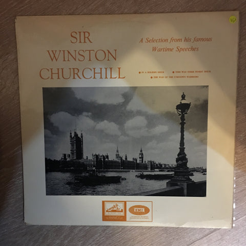 Sir Winston Churchill - A Selection from His Famous Wartime Speeches ‎- Vinyl LP Record - Opened  - Very-Good+ Quality (VG+) - C-Plan Audio
