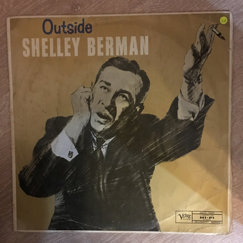 Shelley Berman ‎– Outside Shelley Berman - Vinyl LP Record - Opened  - Very-Good+ Quality (VG+)