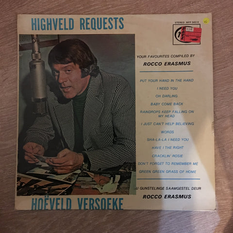 Rocco Erasmus - Highveld Requests - Vinyl LP Record - Opened  - Very-Good Quality (VG) - C-Plan Audio