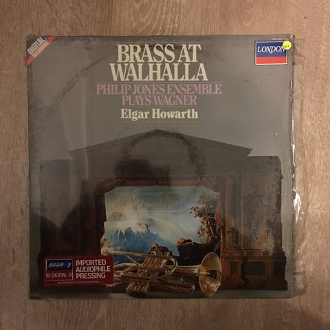 Philip Jones Ensemble Plays Wagner - Elgar Howarth ‎– Brass At Walhalla -  Vinyl LP Record - Opened  - Very-Good+ Quality (VG+)
