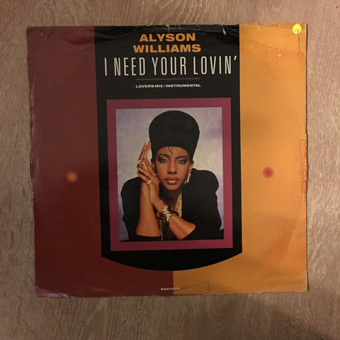 Alyson Wiliams - I Need Your Lovin' - Vinyl LP Record - Opened  - Very-Good Quality (VG)