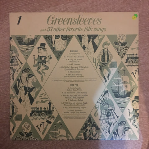 Greensleeves and 57 Other Favourite Folk Songs (Part 1) - Vinyl LP Record - Opened  - Good+ Quality (G+) - C-Plan Audio